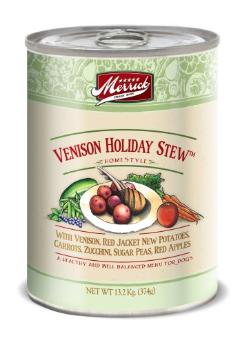 Merrick Grain-Free Venison Holiday Stew Canned Dog Food, 13.