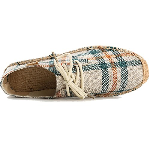 Espadrilles Lace Canvas Check up Beige Alexis Herren Leroy wqA5Y