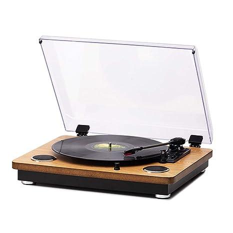 LVSSY Tocadiscos de Vinilo Vintage con 33/45/78 Reproductor ...