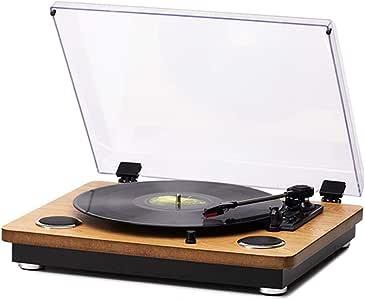 LVSSY Tocadiscos de Vinilo Vintage con 33/45/78 Reproductor de ...