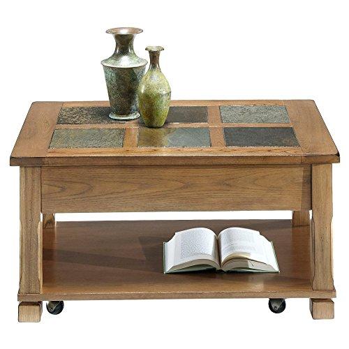 Progressive Furniture Rustic Ridge Cocktail Table, Light Oak/Slate -  P468-15