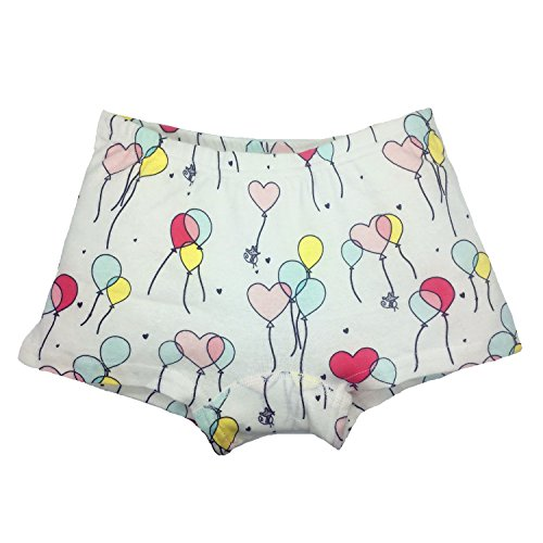 Cczmfeas Girls Boyshort Hipster Panties Cotton Kids Underwear Set (A-6 Pack, 6-8 Years) by Cczmfeas (Image #1)
