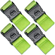 SEPOX 4-Pack Luggage Strap 69″ Long Travel Packing Belt Suitcase Baggage Security Straps Safety Green Luggage Travel Accessories