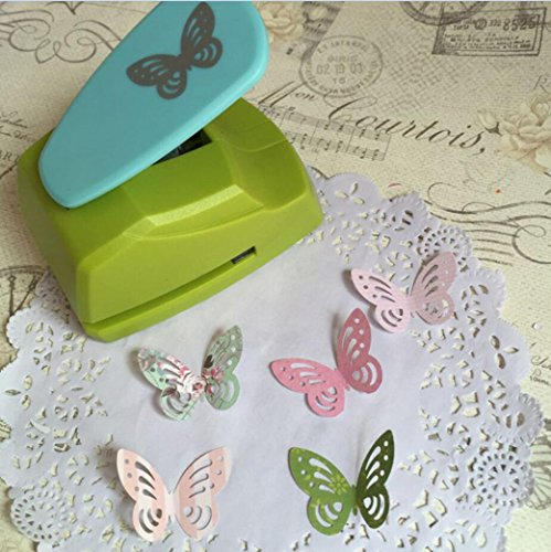 Embossing Machine, Iusun Hollow Butterfly Heart Shape Punch Paper Cutter Tool For DIY Card Making Scrapbooking Craft Tags Gift (A) ()