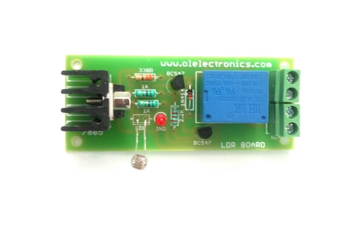 Olatus Automatic Dawn To Dusk Sensor Board With Relay And Ldr For Photoresistor Beginners In Electronics Solar Based Street Light By Ol Industrial Scientific