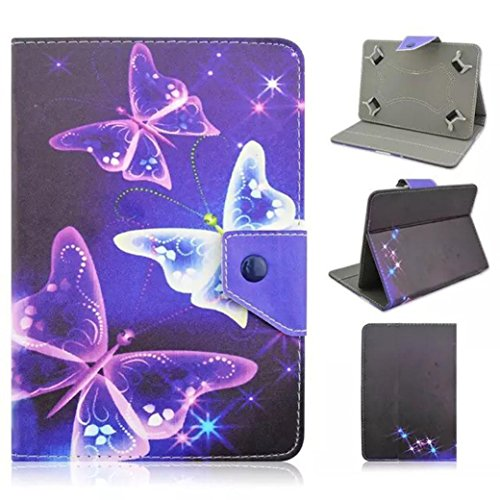 Coohole Universal Leather Flip Case Cover For Android - Galaxy 3 Tablet Case 7 Inch Bling