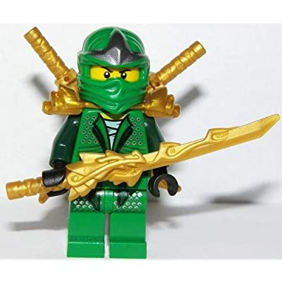 LEGO Lloyd ZX - Gold weapons pack (Armor, Shamshir & Dragon Swords): Toys & Games