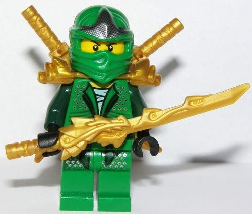 LEGO Lloyd ZX - Gold weapons pack (Armor, Shamshir & Dragon Swords) (Lego Ninjago Lloyd Zx)