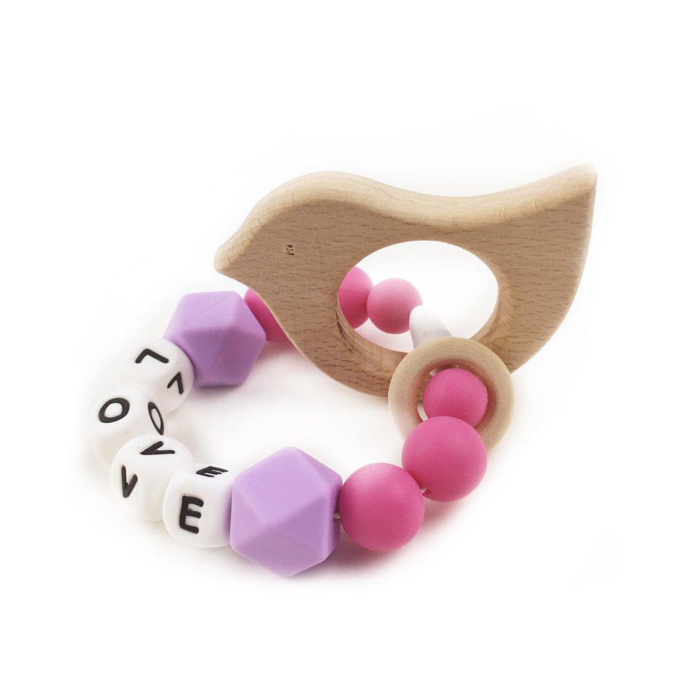 低価格 Wood Teething Beech Wood Enlglish Letters Baby LOVE Silica Silicone Beads Toys Alphabet Selectable Letter Silicone Beads Baby Teether Crib Toys (LH435) by LOVEBABY B01I0V1Z8G, February:fc92add1 --- a0267596.xsph.ru