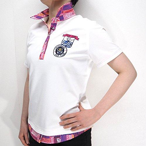 31015 春夏 日本製 レディース UVカット 冷感 ストレッチ 半袖 ポロシャツ ホワイト(白) サイズ 44 CASTELBAJACカステルバジャック 紳士服 メンズ 男性用