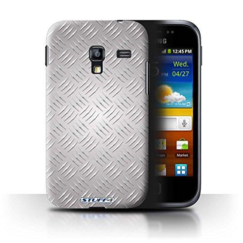 Coque de Stuff4 / Coque pour Samsung Galaxy Ace Plus/S7500 / Argent Design / Motif en Métal en Relief Collection