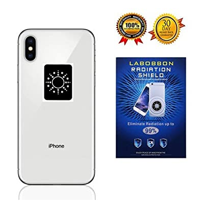 Labobbon Radiation Protection Shield, EMF Blocker for Cell Phone/Laptop/ Tablet/Kindle/ Router | Protect You and Your Family from Radiation | 1.6 x 1.23 inches