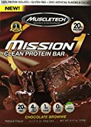 Mission1 Clean Protein Bar, Chocolate Brownie, 4 x 2.12 oz bars