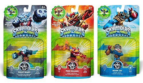 Skylanders SWAP Force Character Bundle Pack (3): Boom Jet, Night Shift, and Fire Kraken Characters (SWAP-able)