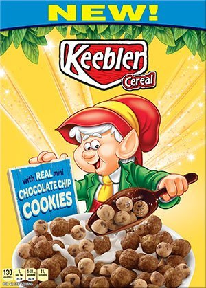 Keebler Cereal Chocolate Chip Cookies Cereal 11.2 Oz (Pack of 3)