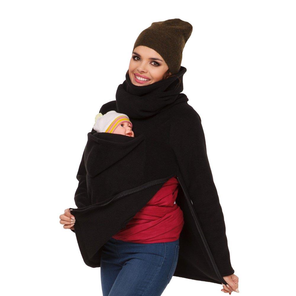 MissChild Sudadera Canguro con Capucha Mujer Premamá Sudaderas Portabebés Chaqueta Outwear Otoño Invierno Portador de Bebé: Amazon.es: Ropa y accesorios