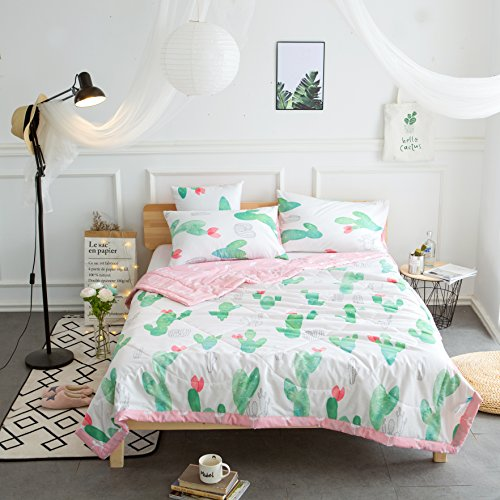 j-pinno-cartoon-cactus-printed-quilt-comforter-twin-for-kids-bed-coverlet-twin-59-x-78-9