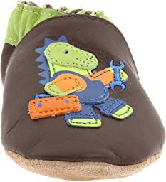 Robeez Soft Soles Fix It Dino Pre-Walker (Infant/Toddler),Brown/Green,0-6 Months (1-2 M US Infant)