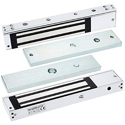 280KG (600LB) Access Control System Single Door 12V Electric Lock Magnetic Electromagnetic Lock Holding Force witn LED Light