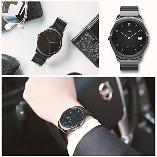 Ticwatch 2 Classic 42mm Stainless Steel Smartwatch - Onyx - Mobvoi  Voice Contral Ticwear OS Compatible with Android  and iOS,Personal Assistant on your wrist. by Ticwatch (Image #3)