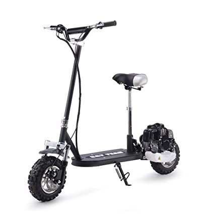 SAY YEAH Gas Scooter 49cc 2 Stroke Bike Stand and Seat Powerful Adult Scooter Black