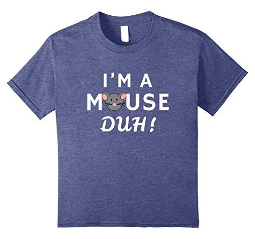 Cute Halloween Gifts For Girlfriend (Kids I'm A Mouse Duh! Funny Cute Halloween T Shirt - Men Women 8 Heather Blue)