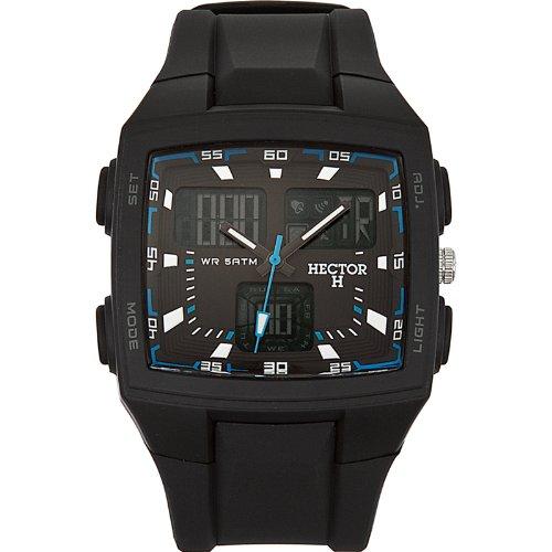 562074cd2c6f Hector H 665277 - Reloj analógico y digital de cuarzo para hombre con  correa de plástico
