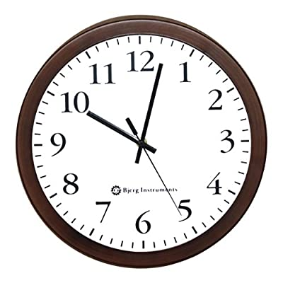 "Bjerg Instruments Modern 12"" Steel Enclosure Silent Wall Clock with Non Ticking Movement (Bronze) - Large 12"" Diameter Display. Easy to see from a distance and read the time. Silent, Non Ticking Second Hand that Sweeps. You don't have to listen to loud ticking in a silent room. Modern Design. Simple and elegant and looks great on the wall of your home, classroom, patio, dining room, kitchen or office. - wall-clocks, living-room-decor, living-room - 51%2BYu8pYVSL. SS400  -"