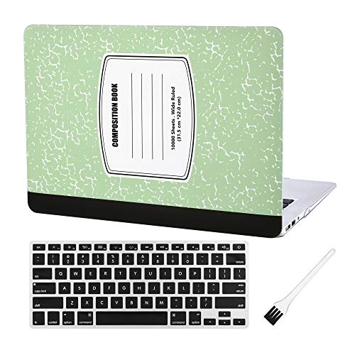 - Laptop Hard Case MacBook Air 13 inch Notebook Pattern Matte Rubberized Hard Shell Sleeve Cover (MacBook Air 13 Inch A1369 & A1466) with Silicon Keyboard Cover and Dust Brush(Notebook Pattern-Green)