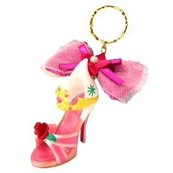 オーロラ姫 キーチェーン キーホルダー キーリング ピンク ディズニー プリンセス 靴 モチーフ ( ディズニーリゾート限定 グッズ