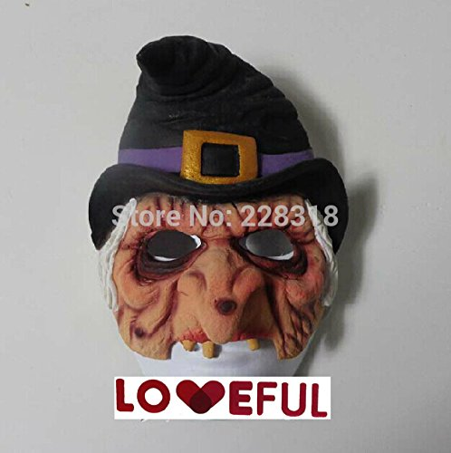 2015 - New Quality Cute Funny Female Wizard Latex Clown Mask For Halloween Costume Party ---Loveful (Cute Female Clown Costumes)