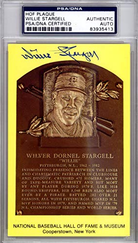 Willie Stargell Autographed HOF Postcard Pittsburgh Pirates #83935413 PSA/DNA Certified MLB Cut Signatures