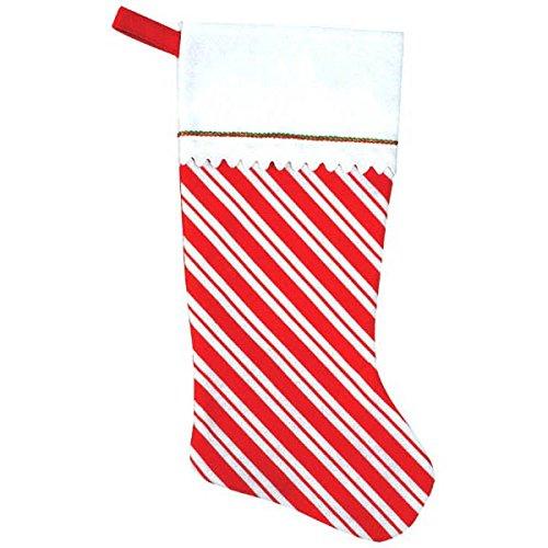 - amscan Candy Cane Santa Felt Stocking   Christmas Decoration
