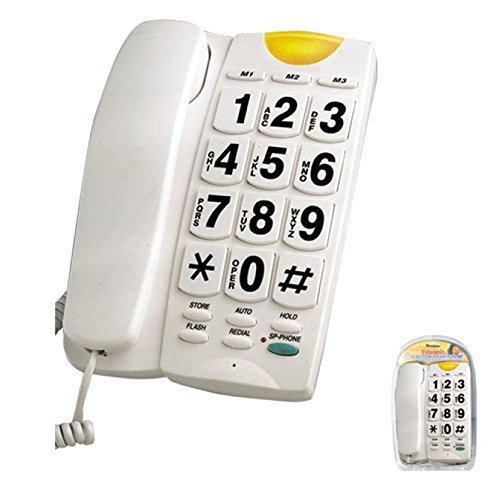 BIG BUTTON PHONE with 10 memory and speakerphone by Trisonic 10 Button Speakerphone