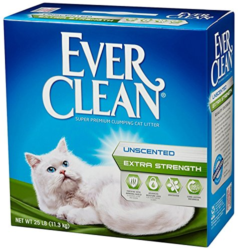 091854604179 - Ever Clean Extra Strength Cat Litter, Unscented, 25-Pound Box carousel main 1