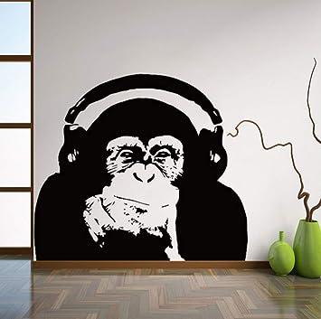 Wall Monkey Decal Decor Sticker Vinyl Black Gorilla Wall Art Mural Sticker