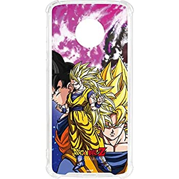 Skinit Dragon Ball Z Goku Forms Moto G6 Clear Case - Dragon Ball Z - Skinit Clear Case - Transparent Moto G6 Cover