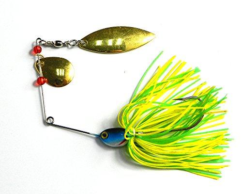 Hengjia 8pcs lot spinnerbait buzzbait fishing lure spinner for Bass fishing lure kits