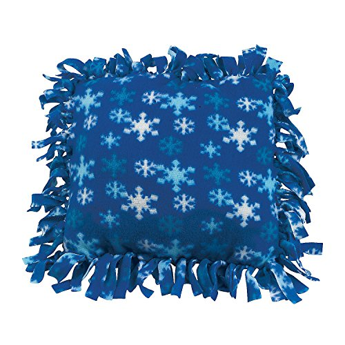 Fleece Winter Tied Pillow Craft Kit ()