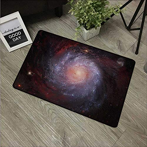 Anzhutwelve Galaxy,Mats Spiral Nebula Print Outer Space Theme Far Stardust Starry Night Picture Print W 16