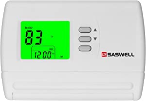 Non Programmable Single Stage Thermostat For Room,24 Volt Or Millivolt System,1H/1C,Saswell SAS900STK-0