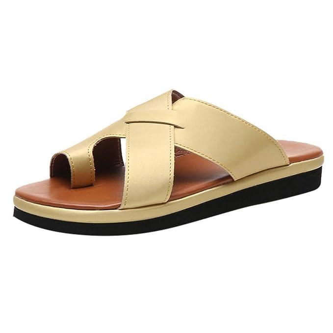 Sandalias Mujer Verano 2019 Plataformas EUZeo Correctoras Juanetes Sandals Hawaianas Zapatillas Deportivas Casual Zapatos Tacon Cuña 5CM Fiesta Chanclas de ...