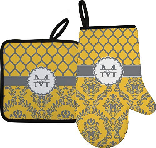 RNK Shops Damask & Moroccan Oven Mitt & Pot Holder (Personalized)