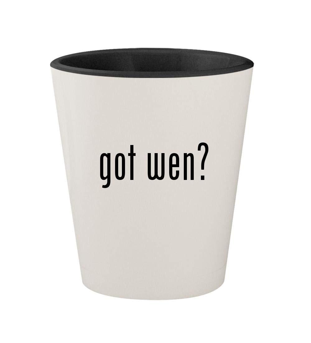 got wen? - Ceramic White Outer & Black Inner 1.5oz Shot Glass