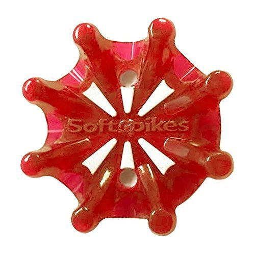 Red Spike - Softspikes Pulsar Tour Lock Cleat - One Replacement Set - Red