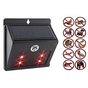 Predator Deterrent Light, EONLYX Solar Powered Predator Deterrent Light Outdoor Animal Deterrent Light Night with 4 LED…