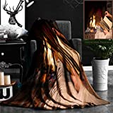 """Nalagoo Unique Custom Flannel Blankets Hands Of Woman Reading Book By Fireplace Super Soft Blanketry for Bed Couch, Throw Blanket 50"""" x 60"""""""