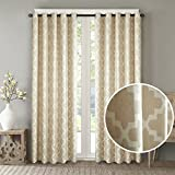 Dreaming Casa Room Darkening Grommet Top Window Treatment 84 Inches Long Printed Blackout Curtains Draperies for Bedroom Living Room 2 Panels/Beige 72″ W x 84″ L Review