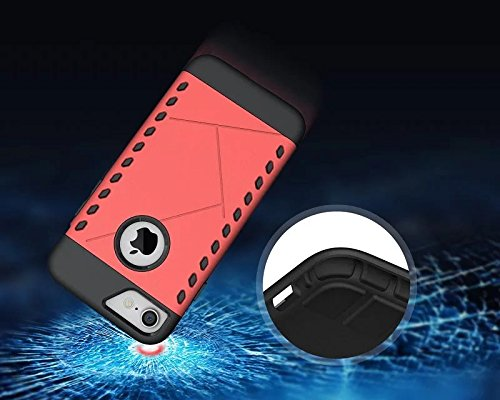 Apple iPhone 7 4.7 zoll 2016 DEFENSE case rot Tasche Hülle mit stand - Zubehör Etui cover iPhone 7 Dual SIM (Red) - XEPTIO accessoires