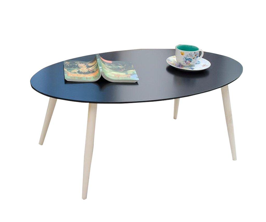 HWH- 楕円形のコーヒーテーブル、リビングルームソファーベッドルームベッドサイドテーブルサイドテーブルサイドキャビネットスモールアパートメントソリッドウッドティーテーブル105 * 60 * 40CM 学習テーブル (色 : A)  A B07R1HM5QR